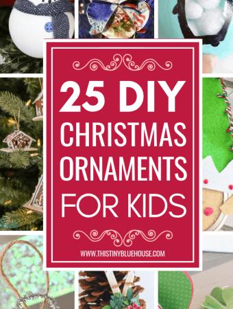 25 DIY Christmas Ornaments To Make With Kids