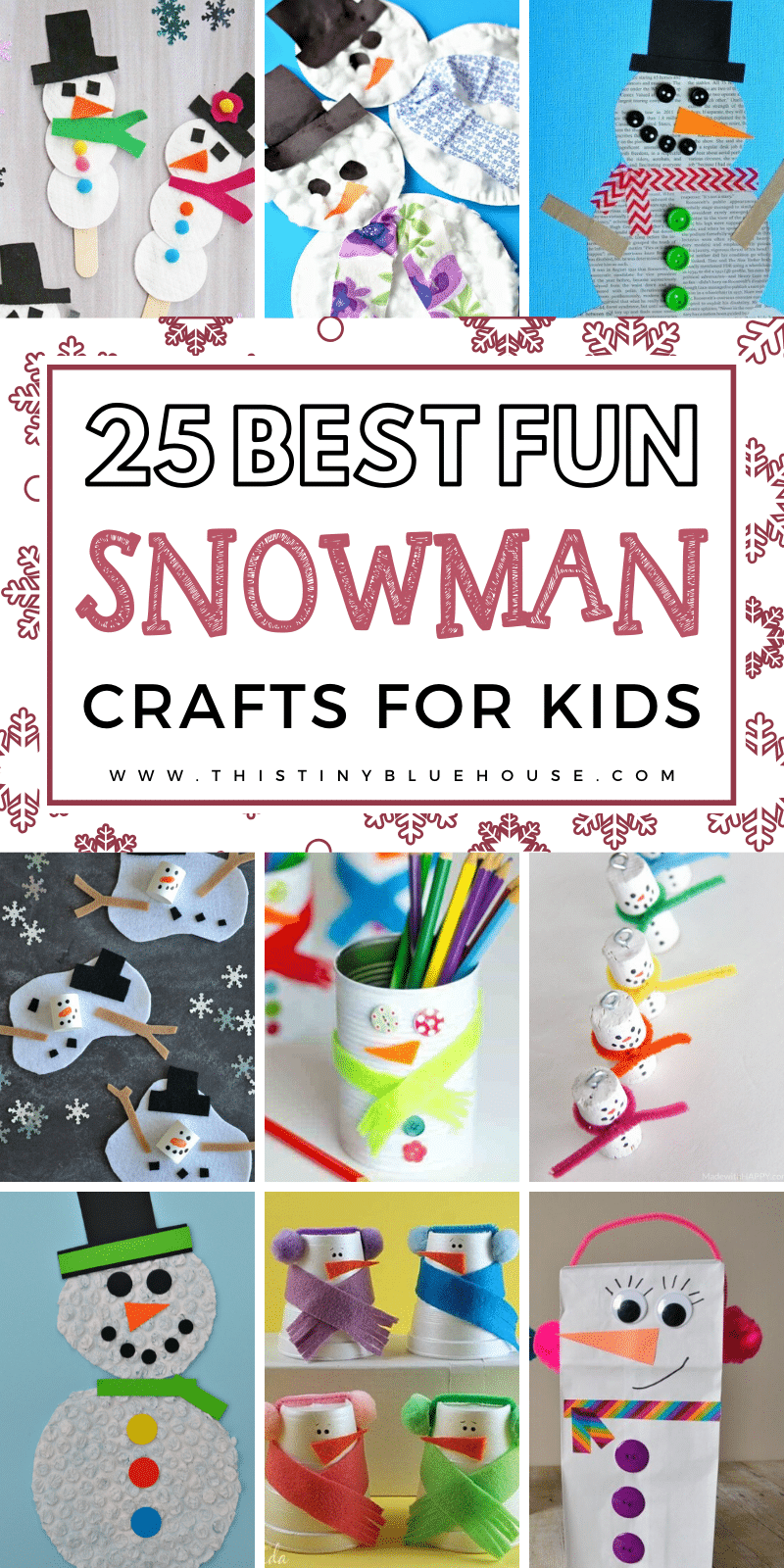 25 Adorable Easy Snowman Crafts For Toddlers. These easy crafts are a perfect weekend or weeknight activity to spark creativity and get into festive holiday spirit. #christmascraftsforkids #snowmancrafts #snowmancraftsforkidstomake #snowmancraftsfortoddlers #snowmancraftschristmas #wintercrafts #wintercraftsforkids #wintercraftsforpreschool #wintercraftsfortoddlers