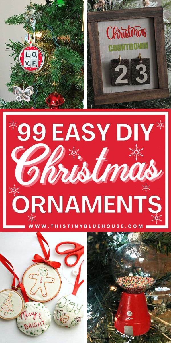 99 Cute Festive DIY Christmas Ornaments