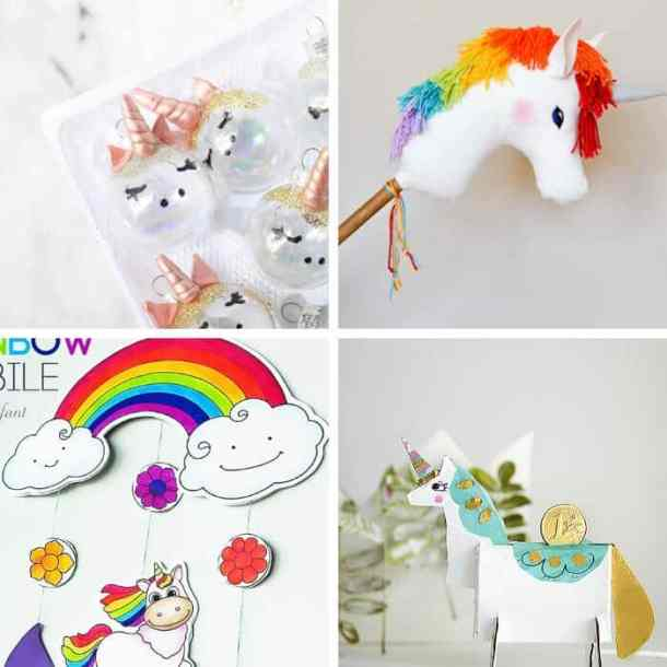 60 Gorgeous & Easy Unicorn Crafts For Kids - This Tiny Blue
