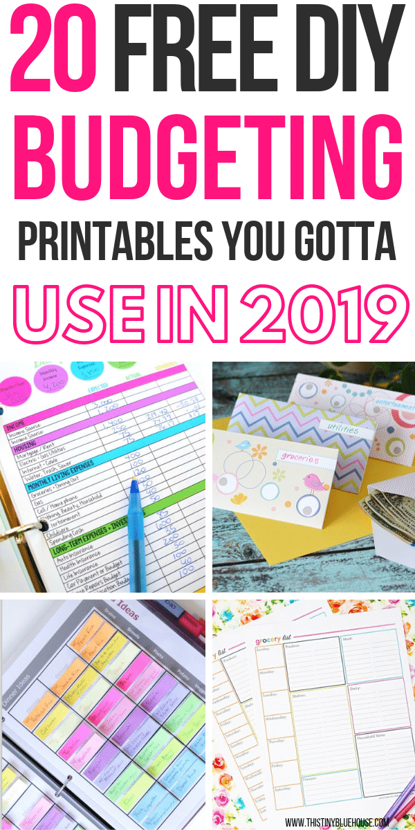 20 Free Budget Printables You Need To Use In 2019 This Tiny Blue House