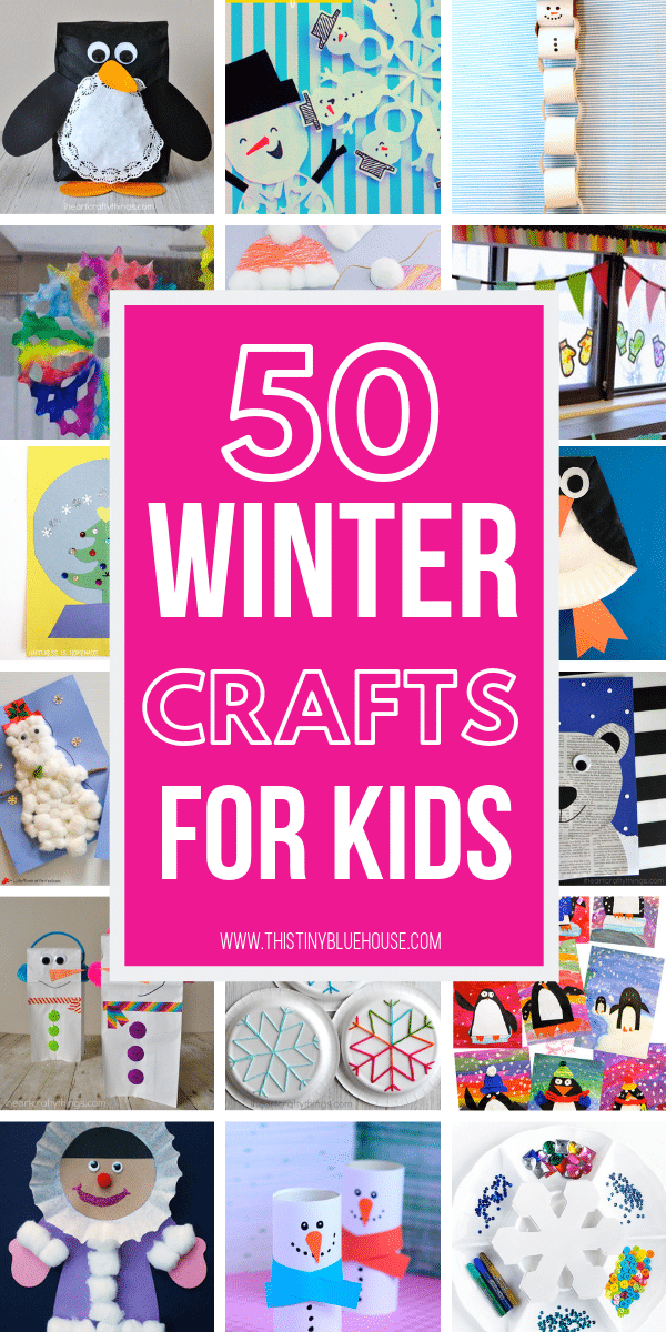 Here are 50 super cute winter crafts for kids! These crafts are a breeze to make, require easy to find household items and are a perfect winter activity for kids of all ages. #wintercraftsforkids #wintercraftsforkidstoddlers #wintercraftsforkidspreschool #wintercraftsforkidsartproject #wintercraftsforkidseasy #wintercraftsforkidsDIY