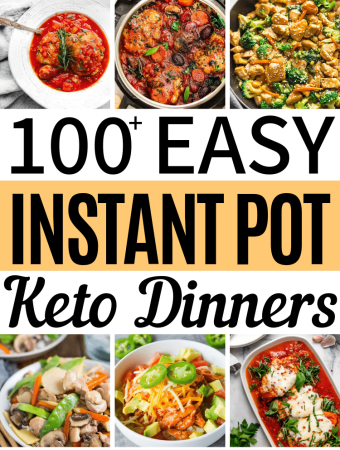 make sticking to the keto diet a breeze with these 100+ delicious and easy keto instant pot meals. The ketogenic diet doesn't get any easier than this! #ketodinnerideas #instantpotketodinners #ketoinstantpotdinners #easyketodinners #lowcarbdinners #lowcarbdinnerideas