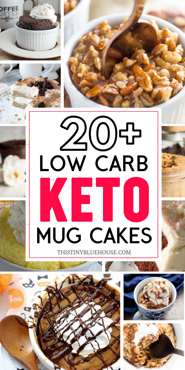 Satisfy your sweet craving by making one of these 21 easy craving buster Keto Mug Cakes. Both easy and delicious these keto compliant treats are guilt free. #ketomugcake #lowcarbmugcake #ketomugcakerecipes #lowcarbmugcakerecipes