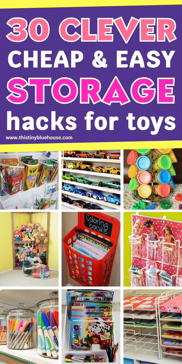 30+ Clever Ways To Organize Messy Toys