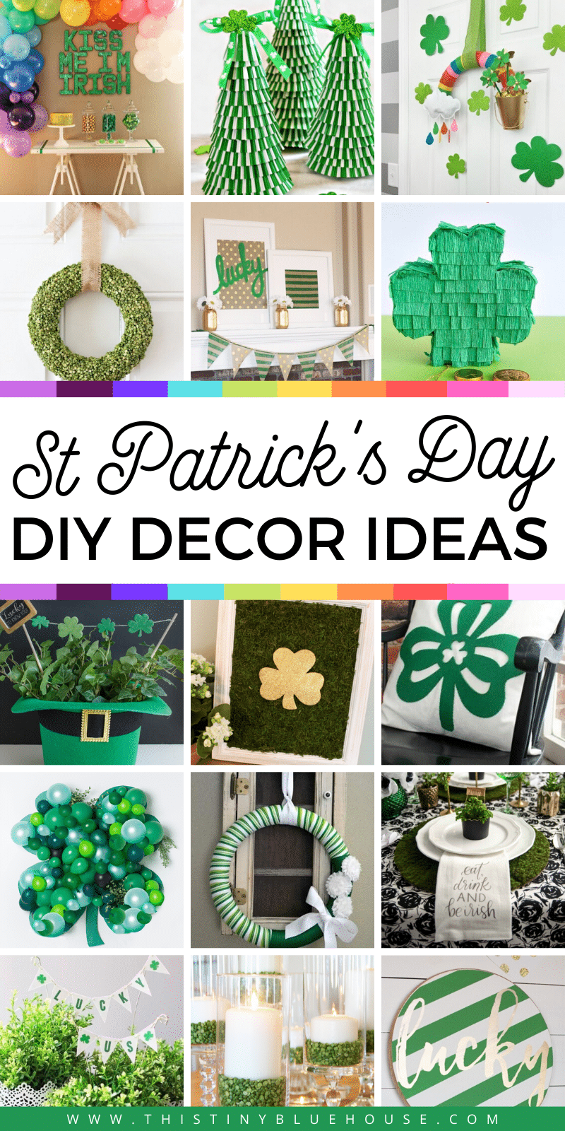 Celebrate St Patrick's day with these fun and gorgeous DIY Decor Ideas. These fun and creative DIY Decor Ideas For St. Paddy's are a great way to make St. Patrick's day extra festive. #DIYDecorStPatricksDay #StPatricksDayDecor #StPatricksDayDIYDecorIdeas #StPaddysDayDecor #StPaddysDayDIYDecorIdeas