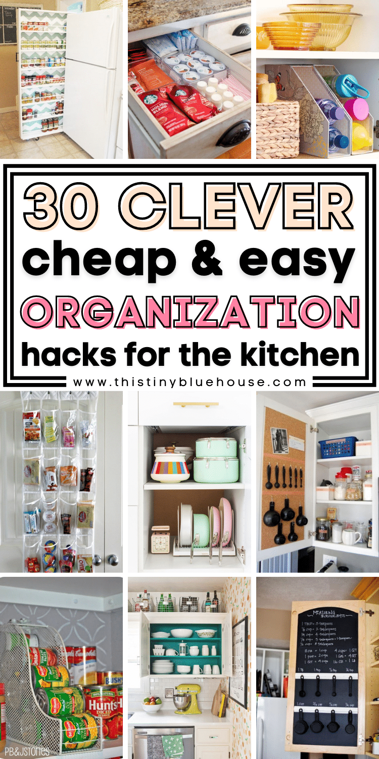 30 Clever Space Saving Organization Hacks For Small Kitchens