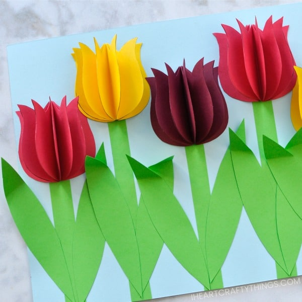 Celebrate the warmer weather and beginning of spring blooms with these 50 delightful spring crafts for kids. Bright, cheerful and fun to make these crafts are guaranteed to be a hit with kids starting as young as 3.