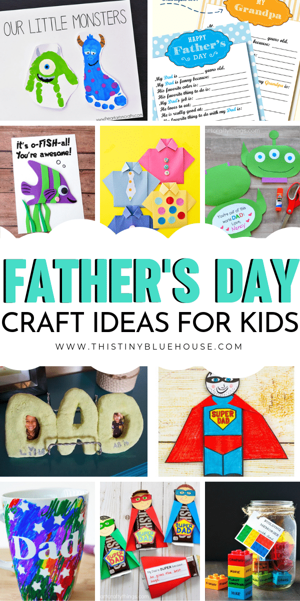40 Cute Father S Day Crafts For Kids This Tiny Blue House