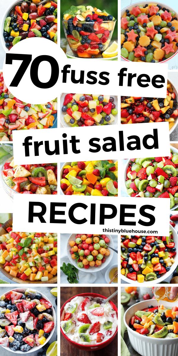 70 Fresh & Easy Fruit Salad Recipes