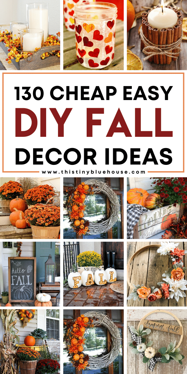 Add some warm and cozy fall decor to your home to welcome autumn. From diy wreaths to indoor diy fall decor projects this MASSIVE post serves up some of the most beautiful and best DIY Fall Decor ideas to welcome fall to your home.