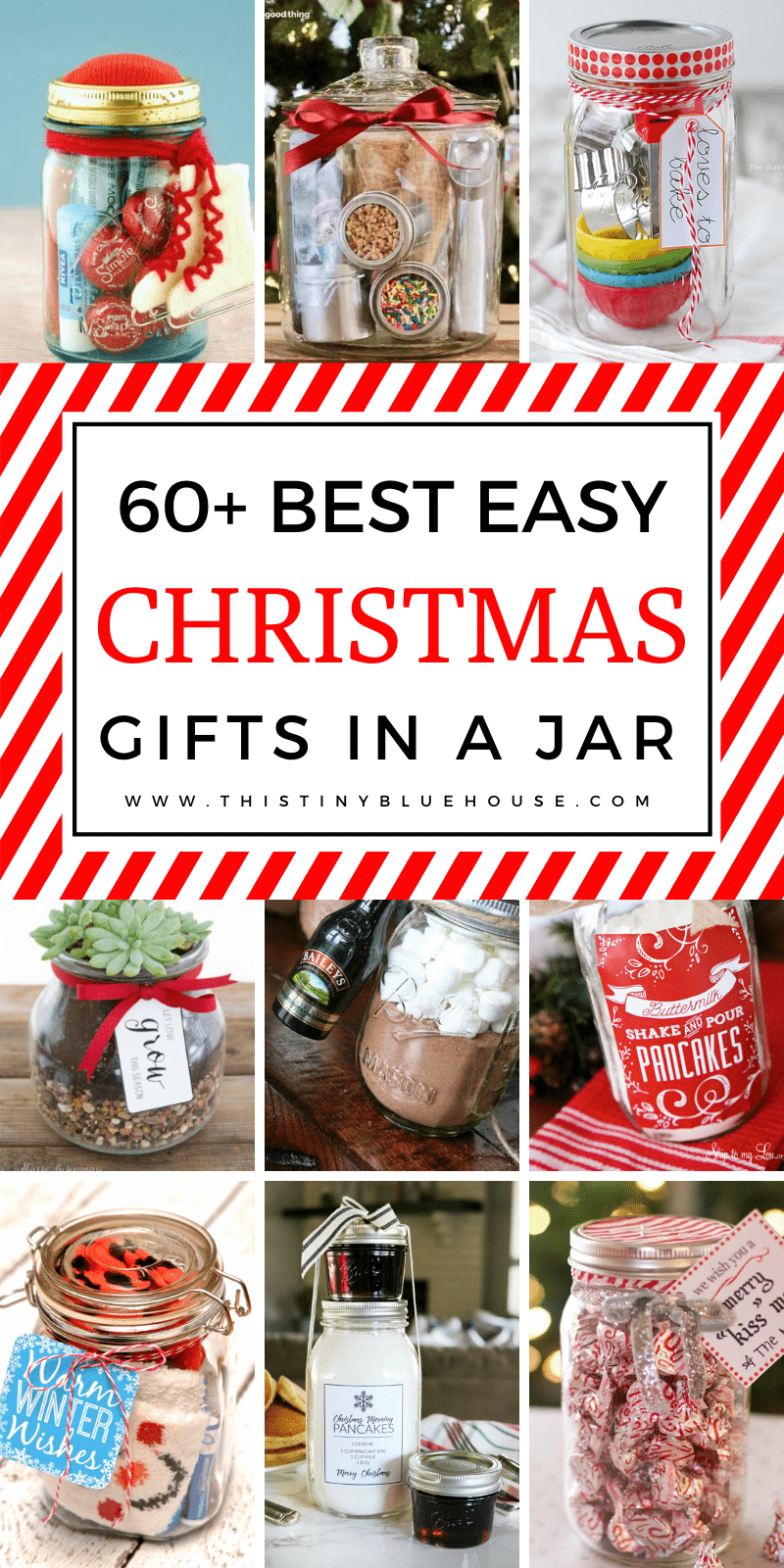 Spoil friends and family this Christmas with these fun, festive and clever DIY Christmas gifts in a jar. From Sangria and survival kits to Play-Doh and Slime this post has a gift in a jar for EVERY person in your life. #DIYChristmasGifts #DIYChristmasGiftsInAJar #DIYChristmasGiftsCheap #DIYChristmasGiftsInAJarUnique #DIYChristmasGiftsInAJarSimple #DIYChristmasGiftsInAJarFun