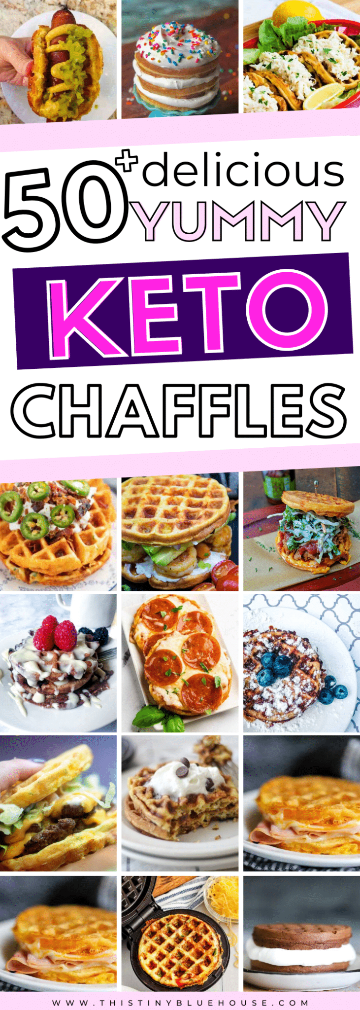 Enjoy one of these easy Keto Chaffle recipes any day of the week with absolutely zero guilt. These easy to make and super satisfying low carb chaffles are great for anyone living a Keto lifestyle. #chaffle #chafflerecipes #bestchafflerecipes #chafflesweet #chafflesavory #easychafflerecipes #ketorecipes