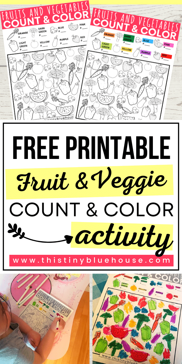 Free Printable I Spy Count and Color Game For Kids. #ISpyGames #ISpyGamesForKids #FreePrintablesForKids #CountAndColorGames #FreePrintables #PreschoolPrintables