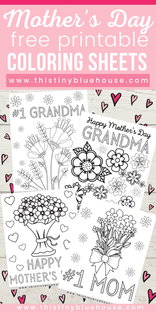 Here are four free printable Mother's Day coloring pages.These cute and thoughtful coloring pages are perfect for kids of all ages to say I love you to mom! #mothersdaycraftsforkids #mothersdayprintables #mothersdaycoloringpages #freecoloringpagesmothersday #freeprintablecoloringpagesformothersday #mothersdaycoloringpages #mothersdaydiygiftskids