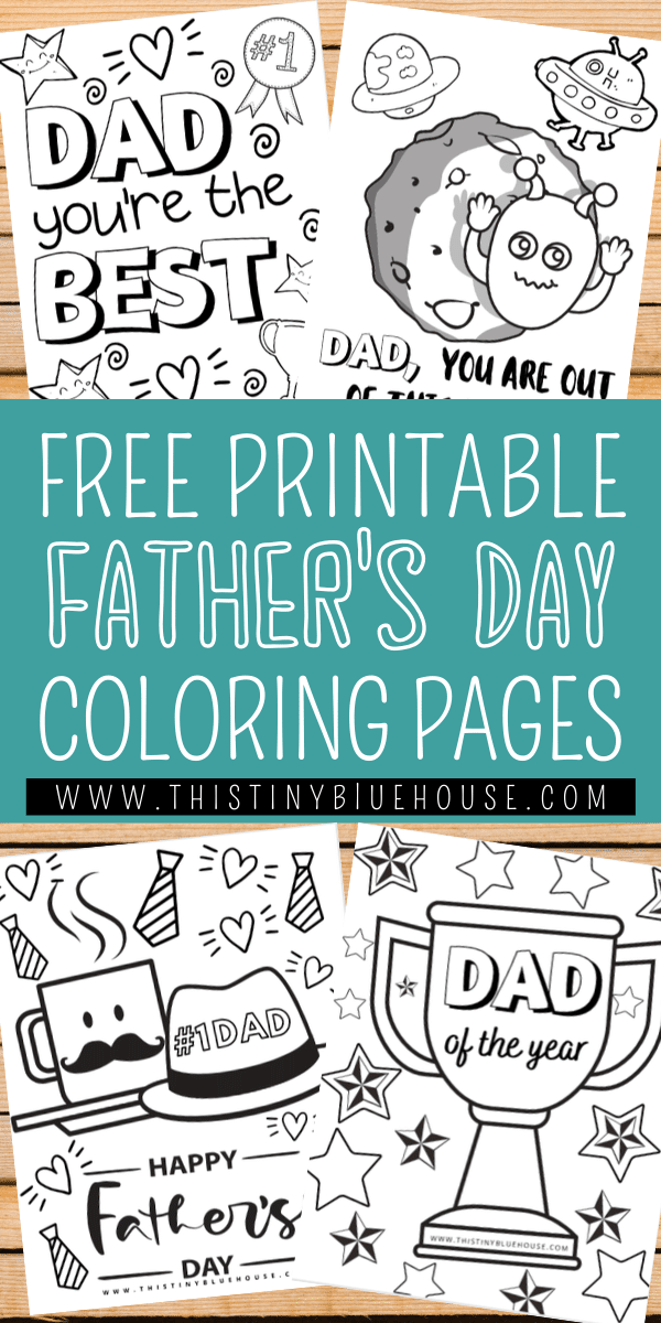 Here are 8 adorable free cute FUN printable Father's Day Coloring pages are the perfect way to say I love you this Father's Day. #FreePrintablesForKids #FreeColoringPages #FathersDayColoringPages #FathersDayPrintables #FathersDayColoringPagesForKids #FreeFathersDayColoringPages #KidActivities