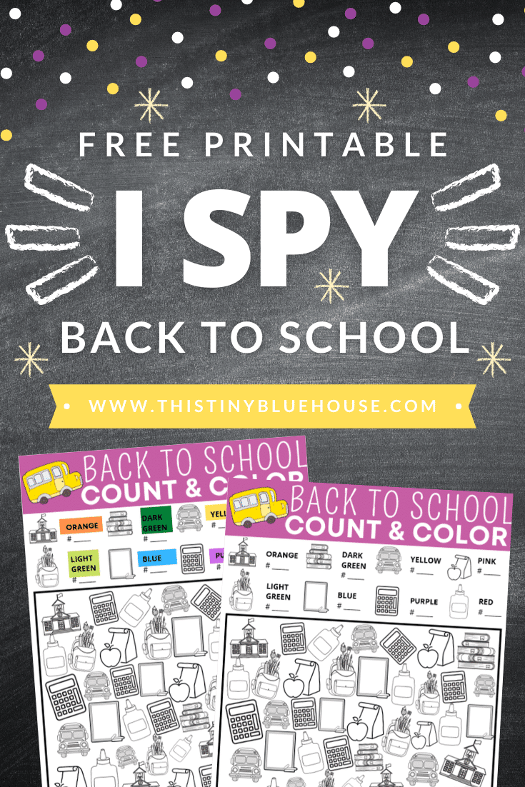 I Spy Back To School (FREE Printable)