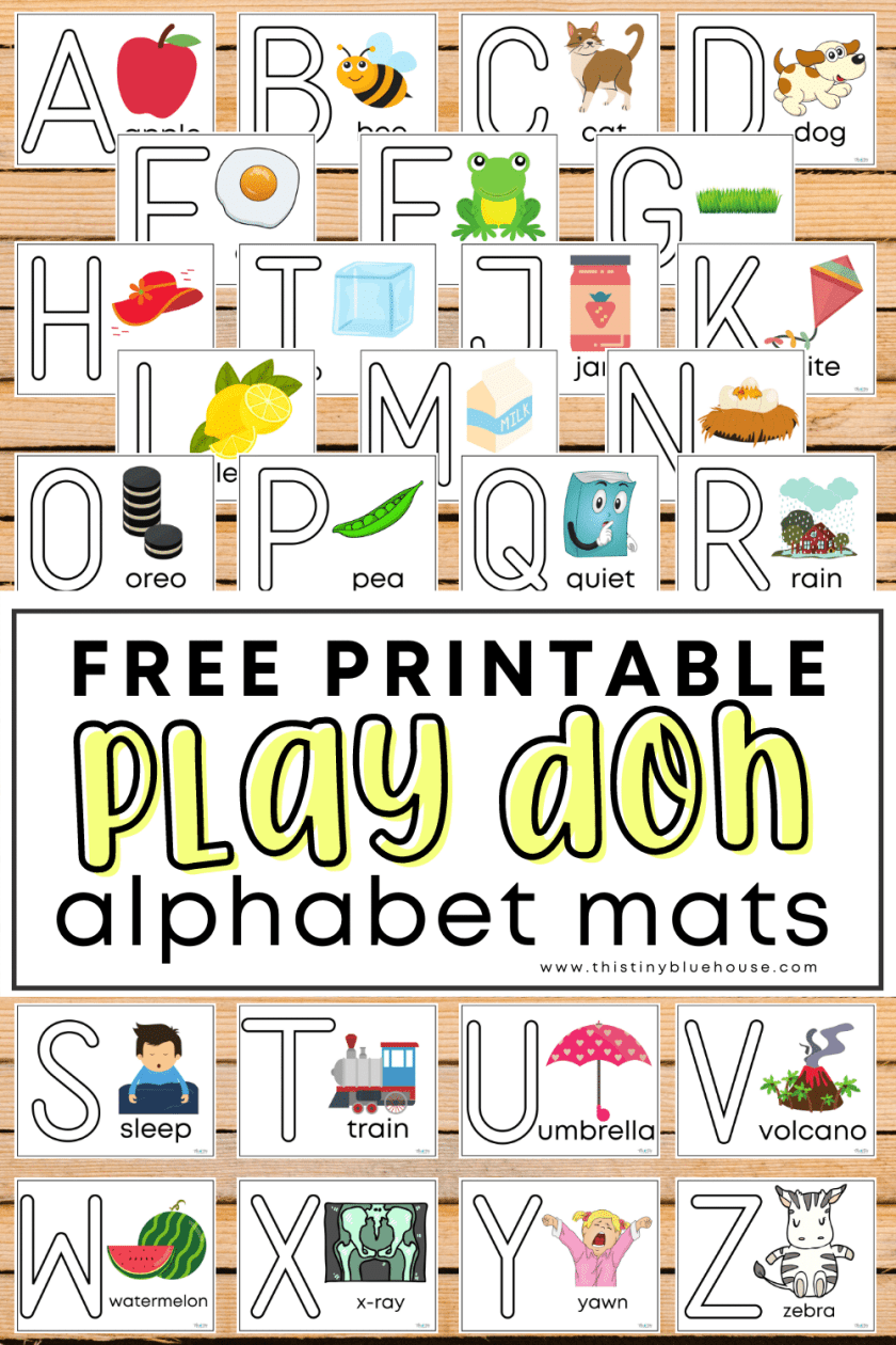 Make preschool letter practice extra fun with these free printable sensory Alphabet Play-Doh mats. These 26 play-doh letter mats make practicing abc's a ton of fun for kids as young as 3.