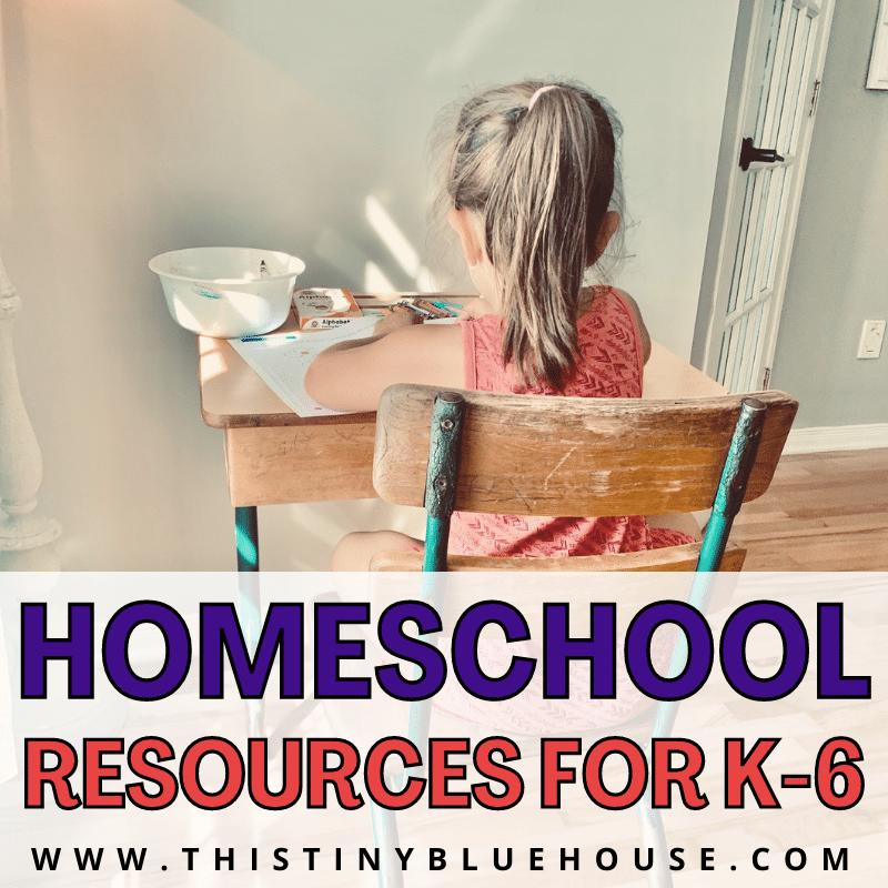 Resources for homeschooling k-6 children