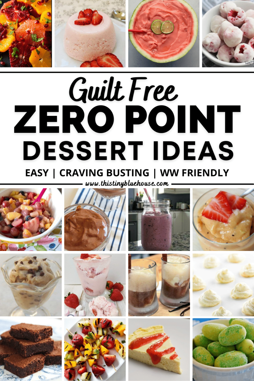 Here are the best totally guilt free zero point Weight Watcher's desserts you can enjoy when the craving for a sweet treat hits. From frozen berries and strawberry fluff to chocolate pudding, these zero point Weight Watcher's desserts are the best way to stretch your daily points.