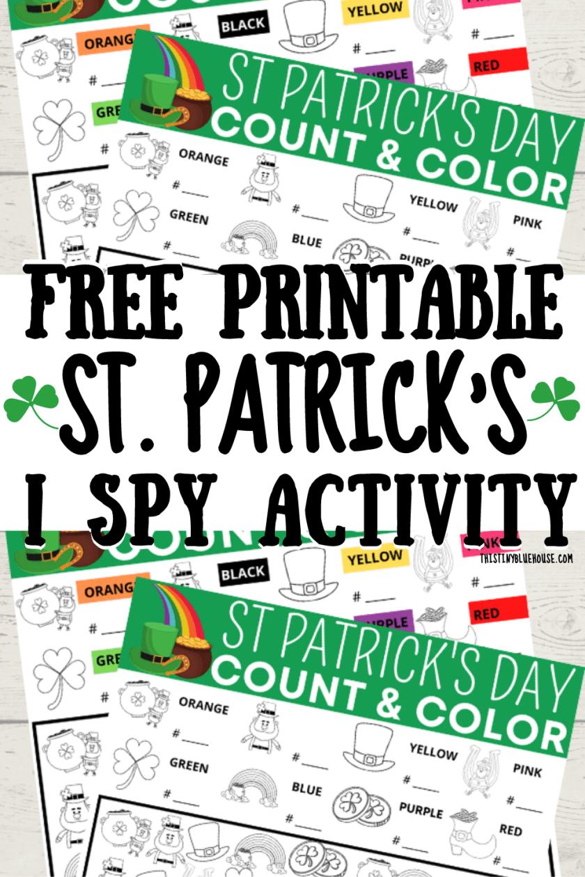 Free Printable St Patrick's Day I Spy