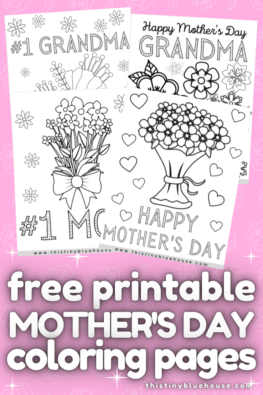 Here are four free printable Mother's Day coloring pages.These cute and thoughtful coloring pages are perfect for kids of all ages to say I love you to mom!