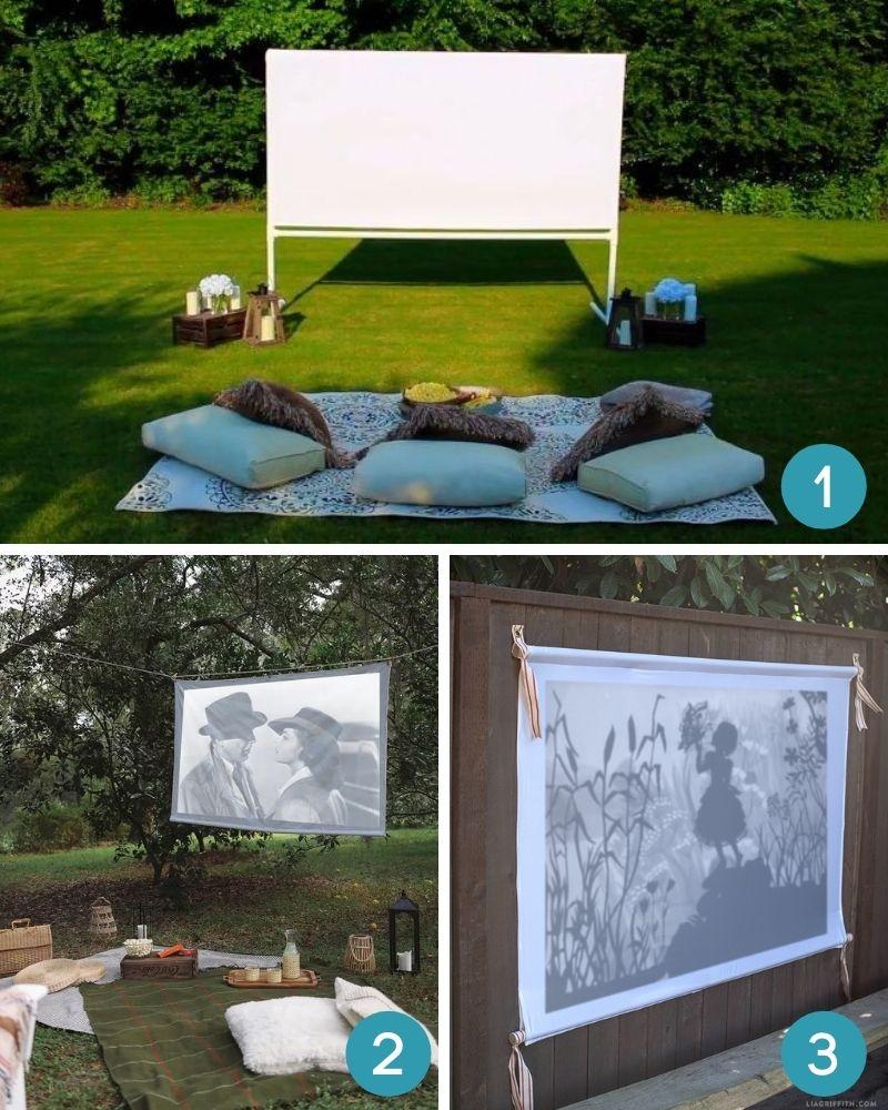backyard movie night screens