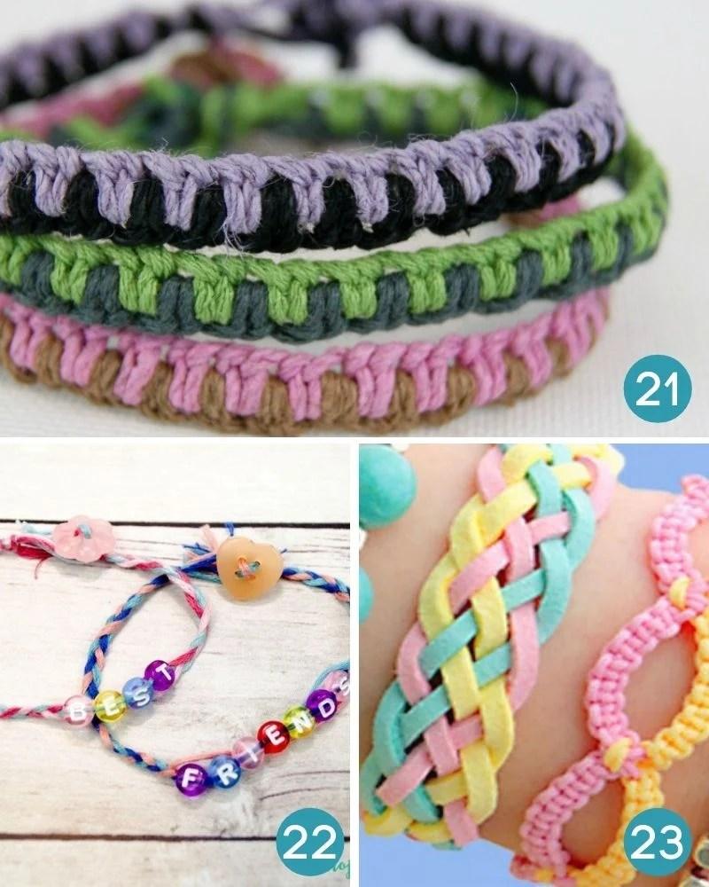 friendship bracelet patterns and tutorials