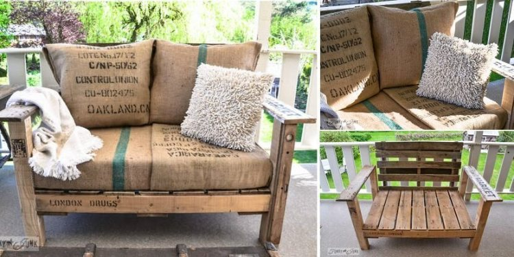 wood pallet patio chair