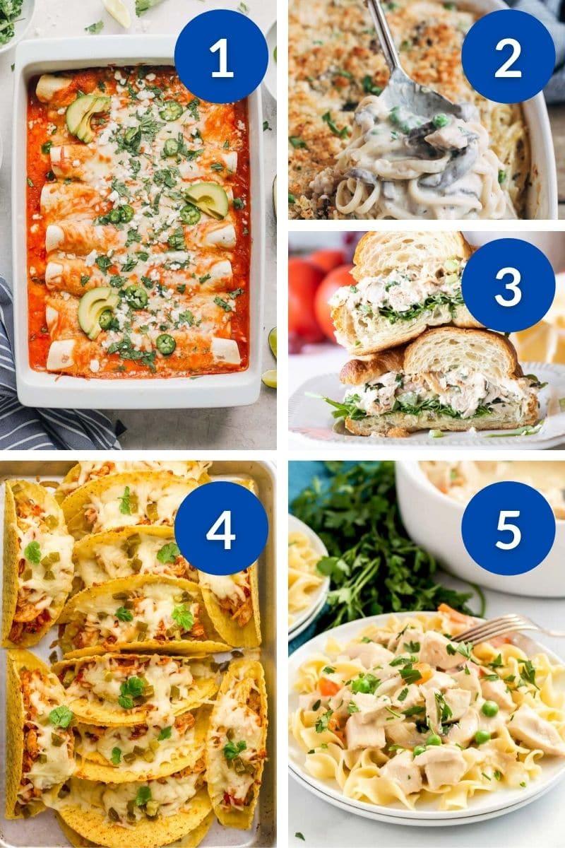 dinner ideas with rotisserie chicken