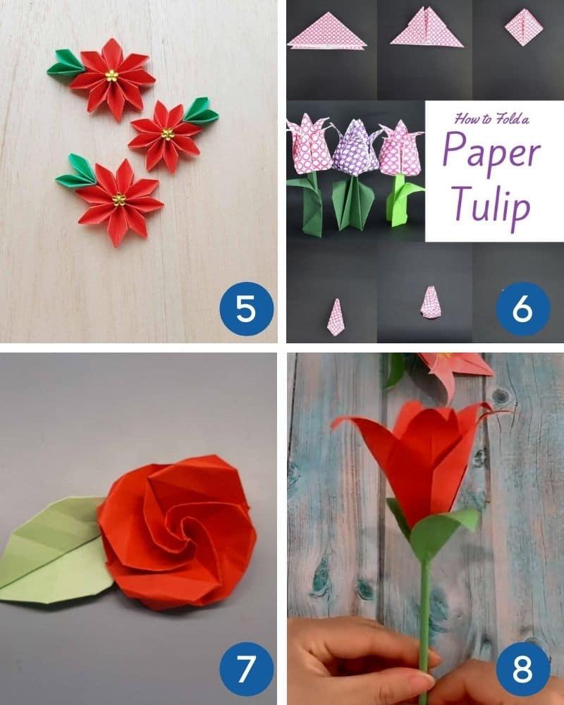 flower origami for beginners