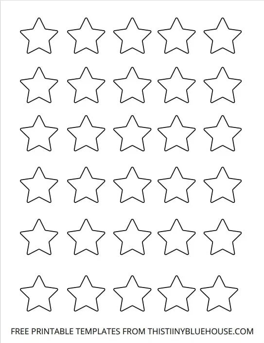star template outline