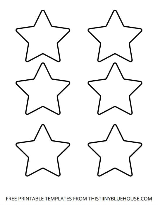 medium star outline printable