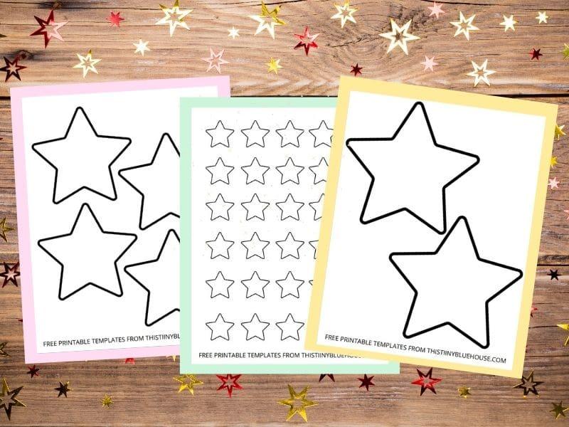 star outline printable template