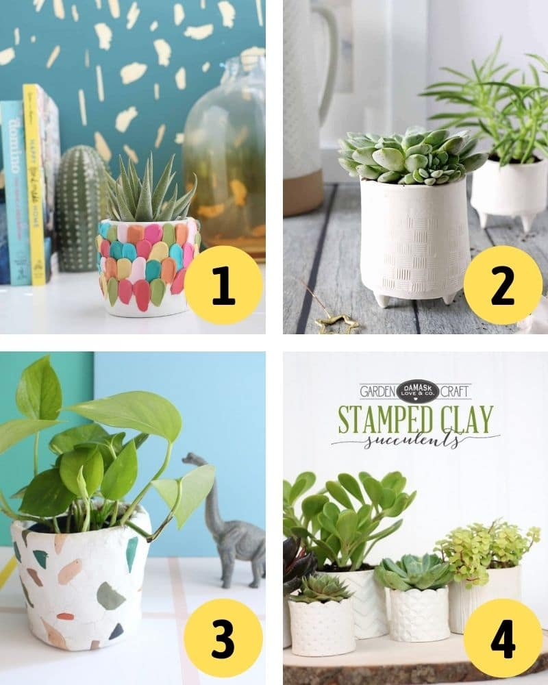 air dry clay ideas: pots and planters you can diy