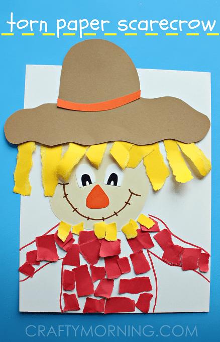 easy scarecrow craft for preschoolers