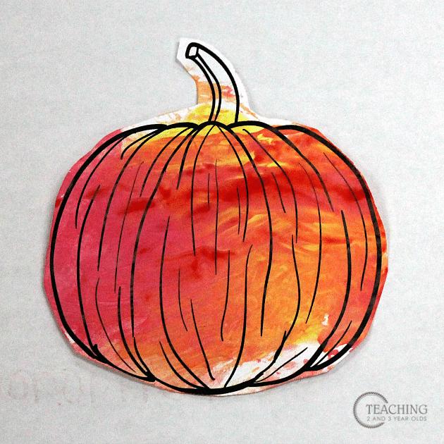 pumpking craft for preschoolers