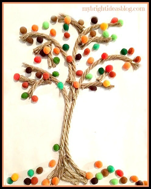 fall tree crafts for kids