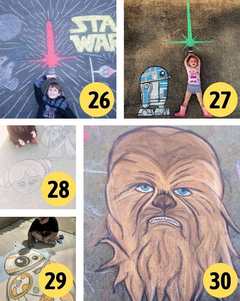 star wars sidewalk chalk art