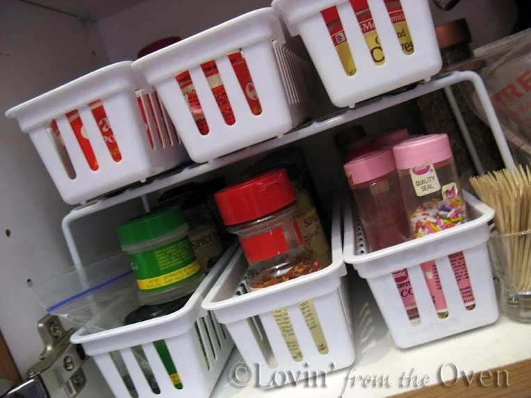 Dollar Tree pantry organization ideas for spices