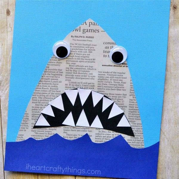 newspaper shark crafts