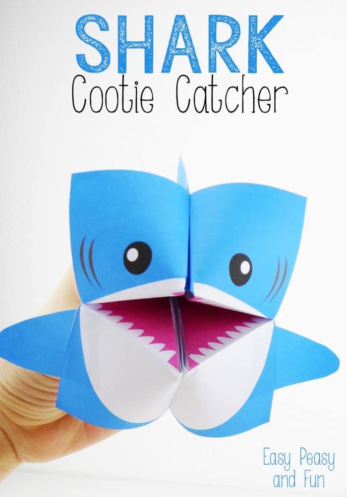 shark cootie catcher for kids
