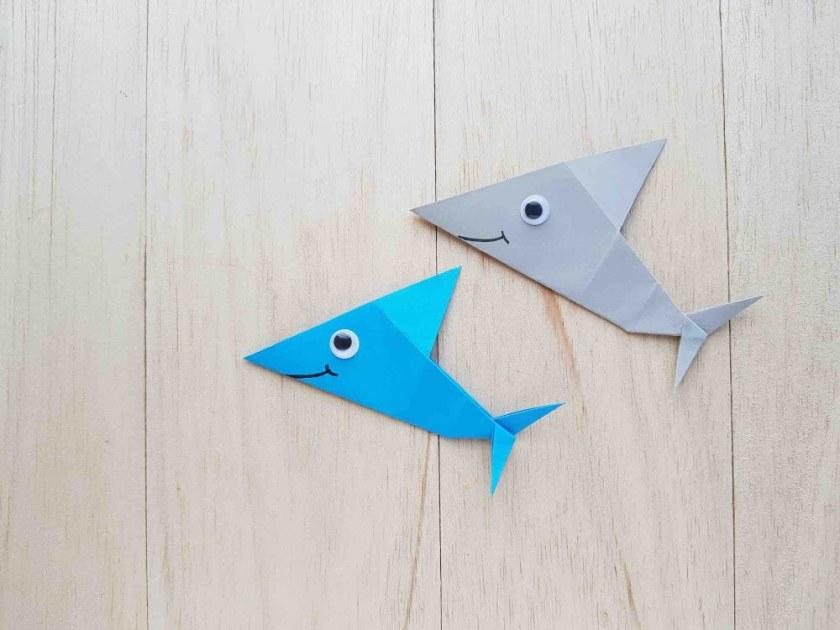 origami shark craft for kids