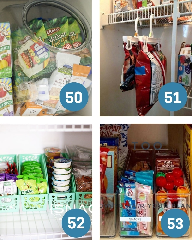 Dollar Tree Pantry Organization for dry foods
