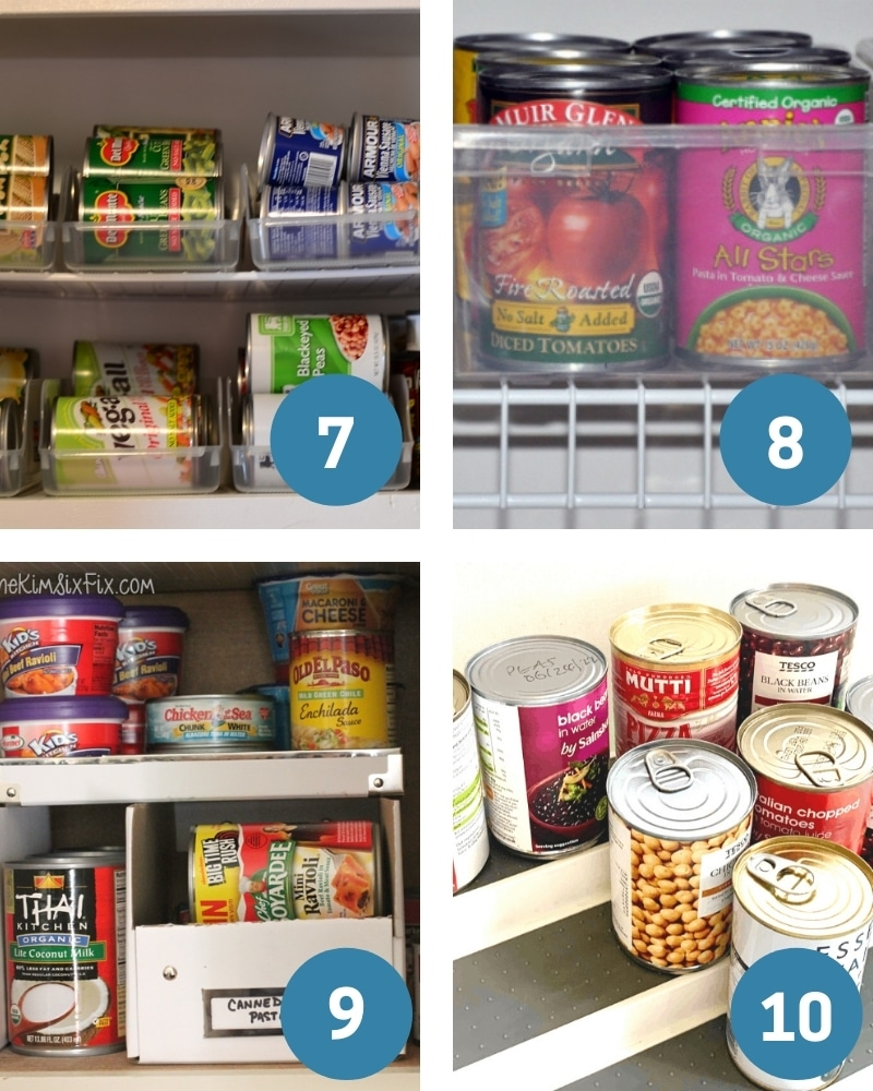 dollar tree pantry organization for canned goods