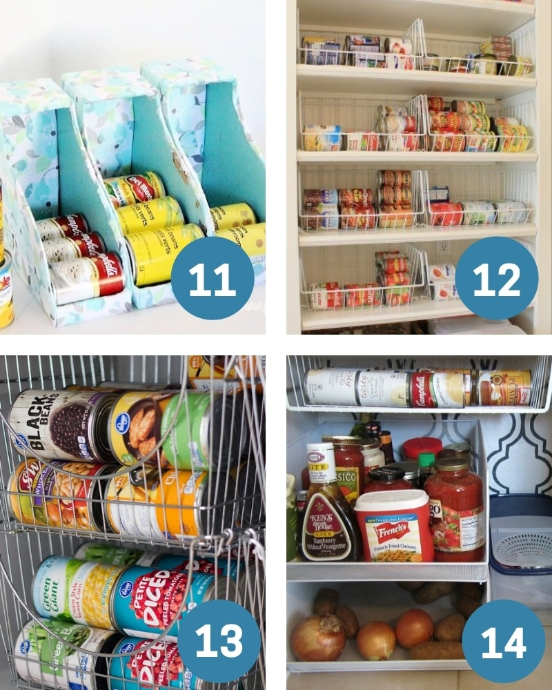 Dollar tree pantry organization ideas for canned goods