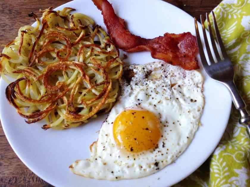 spiralized hash brown recipes