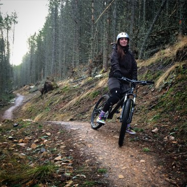 Blue run at Glenlivet Bike Trails