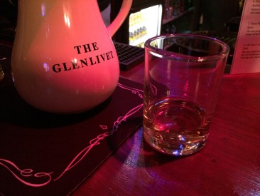A dram of The Glenlivet Whisky at the Croft Inn