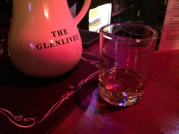 A dram of The Glenlivet Whisky at the Croft Inn